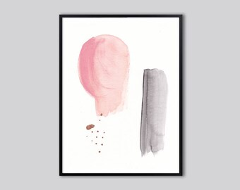 Downloadable print, abstract, Nursery abstract art, PRINTABLE nursery wall art, abstract painting art prints, pink, baby shower gift