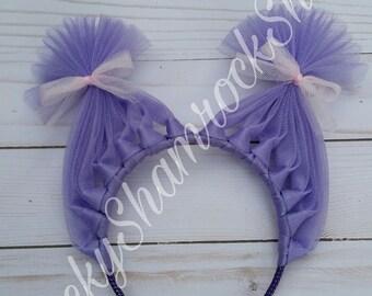 Purple Headband, Pigtails headband, Purple Trolls Headband, Purple Hair Headband