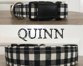 Quinn - Black and White Gingham Inspired Collar