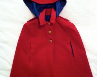 Vintage Little Red Riding Hood Children's Cape