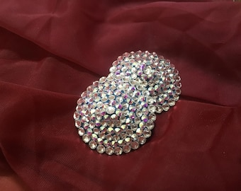 Fully Encrusted Swarovski Burlesque Pasties AB/Crystal