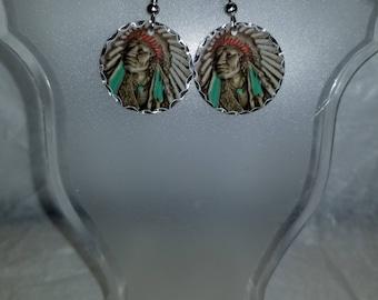 Chief Headdress Earrings