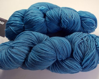 Blues on Octosport  SW Merino Hand dyed Sport weight  yarn