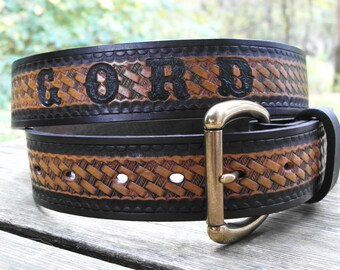 Personalized Leather Belt, Engraved Leather Name Belt, Custom Leather Belt, Handmade Leather Belt