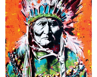Geronimo - 12 x 18 High Quality Art Print