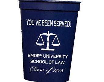 Law school graduation, personalized  plastic cups, Personalized stadium cups, graduation party favors, party cups, personalized tumbler 2018