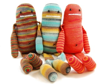 Quincy Quade Quentin A Very Memorable Monster Knitting Pattern Pdf INSTANT DOWNLOAD