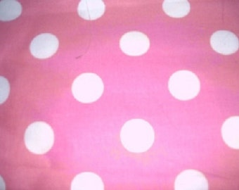 MadieBs Pink and White Polka Crib or Toddler Bed Skirt