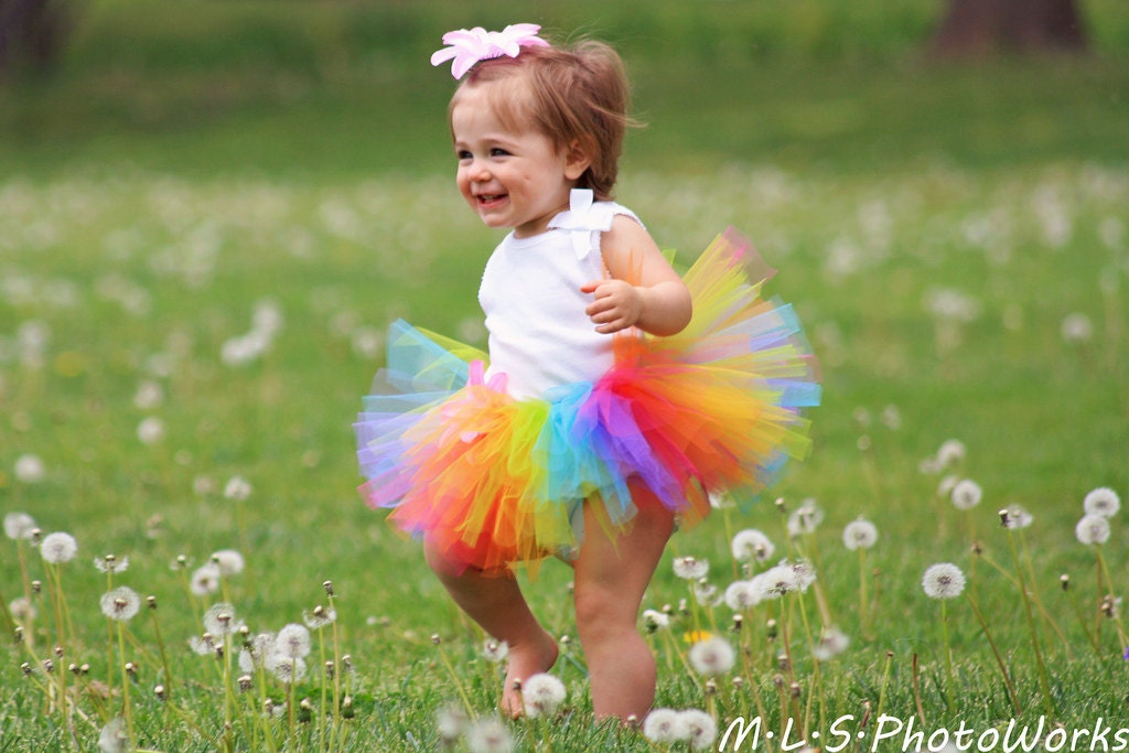 Sweet Candy Rainbow Tutu - Baby Girl 3 6 9 12 18 24 Months 2T 3T 4t 5 6 7 8 10 12 Adult - Bright Halloween Costume - First Birthday Skirt