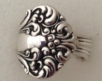 """Spoon Ring, """"Avon"""" 1901, Choose Your Size 7 to 12 Vintage Silverplate Silverware Jewelry"""