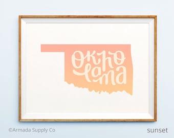 Oklahoma print - Oklahoma art - Oklahoma poster - Oklahoma wall art