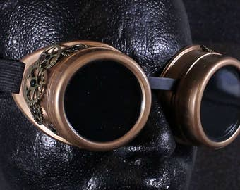 Steampunk Goggles Brass with Antique brass gears