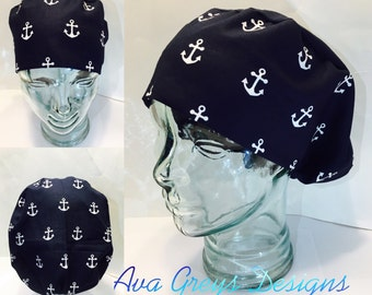European Surgical Hat-Anchors Ahoy// Ready to Ship in 1-2 days