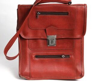 Vintage School bag, messenger bag, vintage school backpack, army bag soviet bag back to school school supply