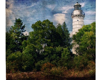 Cana Island Lighthouse - Shower Curtain - Door County