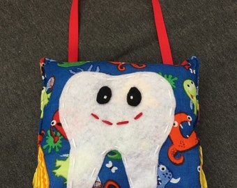 Tooth Fairy Pillow - Monsters, Boy Gift, Birthday Gift