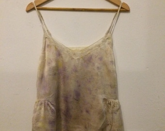 naturally dyed silk camisole