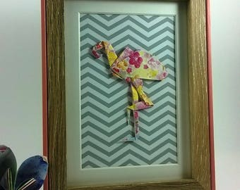 Pink Flamingo painting