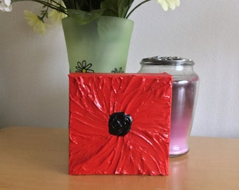 Small Painting Poppy, Red Flower