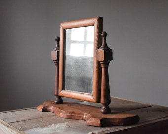 Antique Pine Mirror, Antique 19th Century Mirror, Wood Mirror, Swivel Mirror,  Early American Mirror, Home & Living, Mirrors, Vintage Mirror