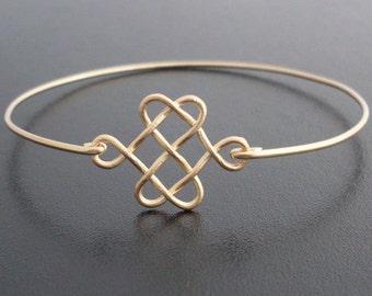 Celtic Knot Bracelet, Celtic Knot Jewelry, Golden Knot Bracelet, Celtic Love Knot Bracelet, Celtic Jewelry, Irish Jewelry, Celtic Bracelet