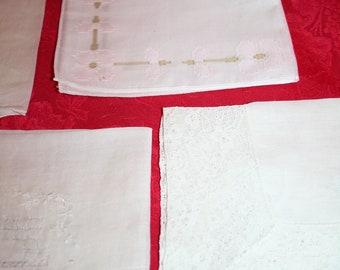 Vintage White Handkerchiefs (Lot of 4)