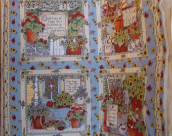 Flowers are Constant Friends Susan Winget Fabric Panel