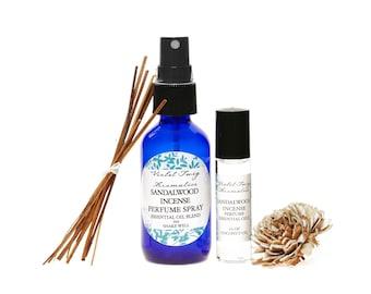 Sandalwood Incense - Nag Champa Incense - Essential Oils - Artisan Perfume - Rollerball Oil - Unisex Fragrances - Essential Oil Perfume
