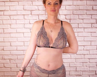 Gina Grey High Waisted Lace French Knicker