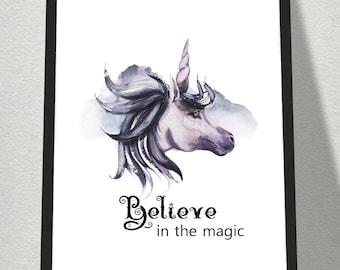 A4 Believe Printable Print. digitaldownloads, printables