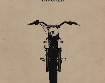 Tracker Motorcycle Print