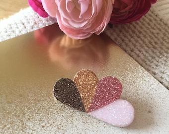"""Brooch """"Fan-shaped Hearts"""""""