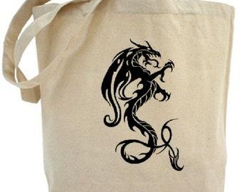Dragon Tote - Cotton Canvas Tote Bag