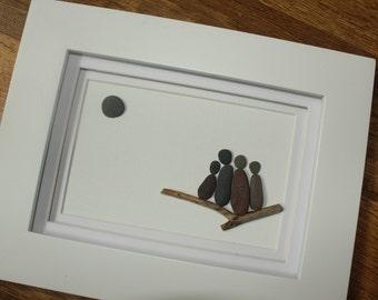 Custom Pebble art; Family