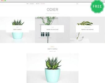 Odier Lite -  A Simple & Elegant WordPress blog theme.
