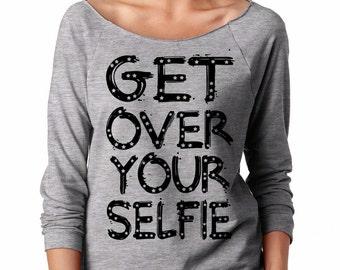 Selfie T-Shirt Raglan French Terry 3/4 Women's Top Stylish Shirt