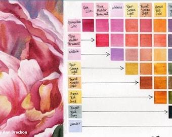 Delightful DS 8 New Colors Set - Hand Poured Daniel Smith Watercolors Half Pans