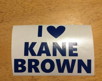 Kane Brown vinyl decal