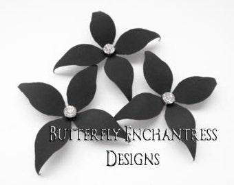 Gray Wedding Hair Flowers, Bridal Hair Accessories, Wedding Bridesmaid Gift - 3 Charcoal Grey Wynn Flower Hair Pins