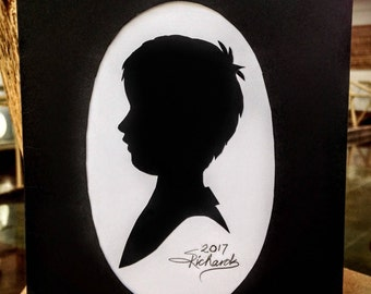 "2for1 SALE! Silhouette Portrait 5x7""- Custom Made for Mother's Day"
