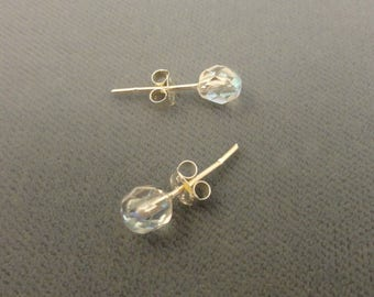 Faceted Glass Post Earrings