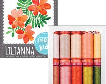 Aurifil Kids Lilianna Thread Collection - 10 Small Spools
