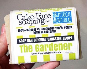 Exfoliating mint soap natural vegan soap handcrafted natural soap bar fresh soap for men olive oil soap coconut oil soap rosemary soap bar