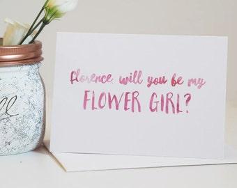 Flower Girl Card - Be My Flower Girl Card - Wedding Card - Flower Girl - Flowergirl