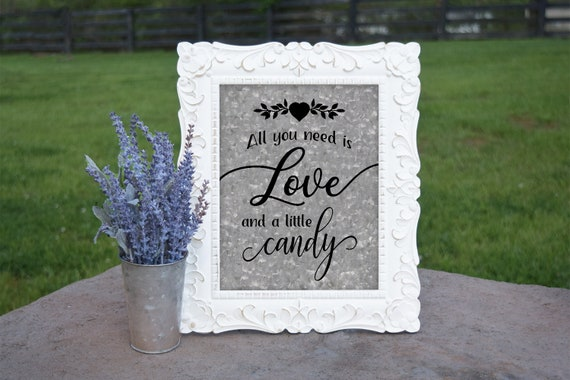 Candy Buffet Sign   PRINTED Wedding sign, Galvanized Wedding Signage, Candy Favors, Wedding Candy Bar, Candy Bar sign, Country wedding sign
