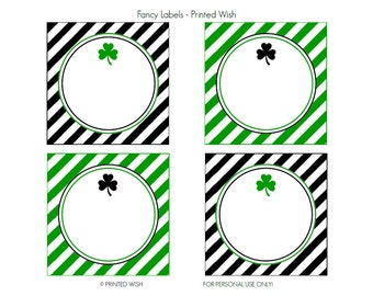 PRINTABLE St. Patrick's Day Collection Fancy Labels - Printed Wish