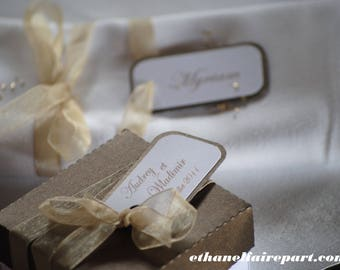 Amor - set of 10 wedding place cards
