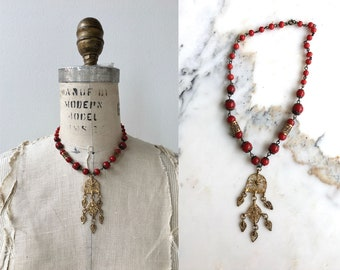 Safavid necklace | vintage 30s necklace | glass 1930s necklace