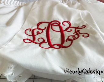 Monogrammed bloomers/diaper covers