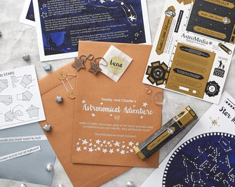Personalised Astronomical Adventure Kit Fathers Day Daddy and child Date Kit Stargazing Astronomy 